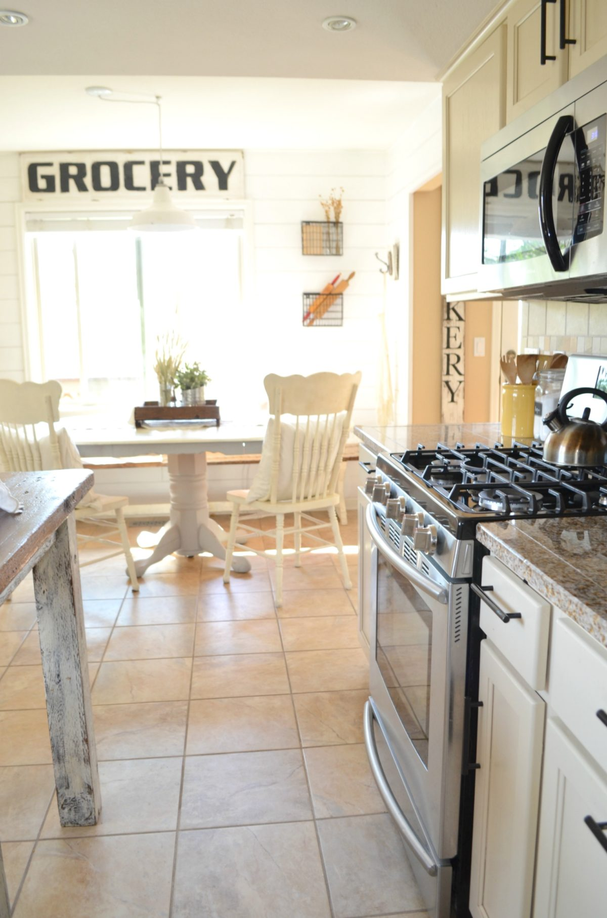 farmhouse kitchen and breakfast nook tour - Nook Kitchen