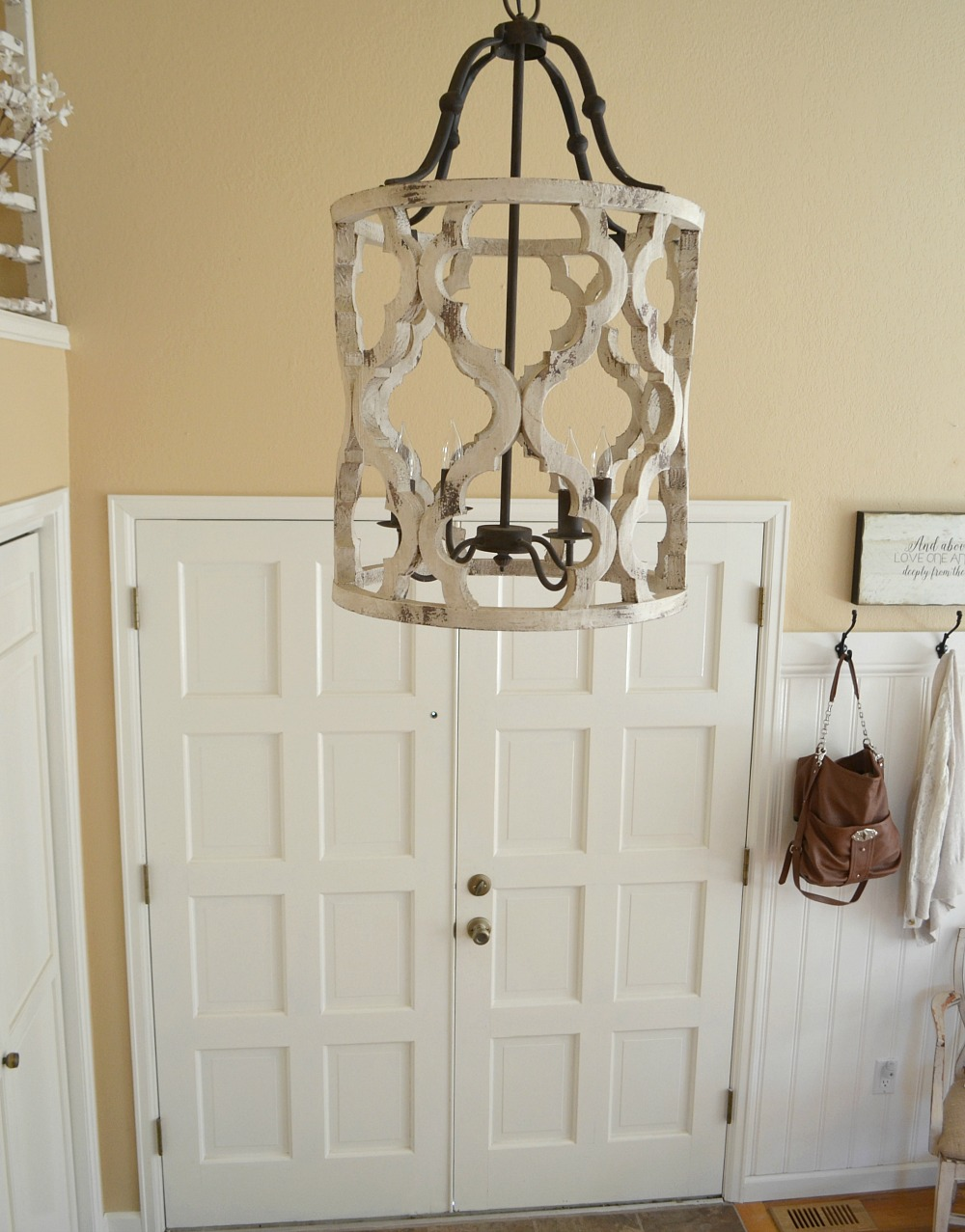 Updated Entryway The Prettiest Chandelier Little