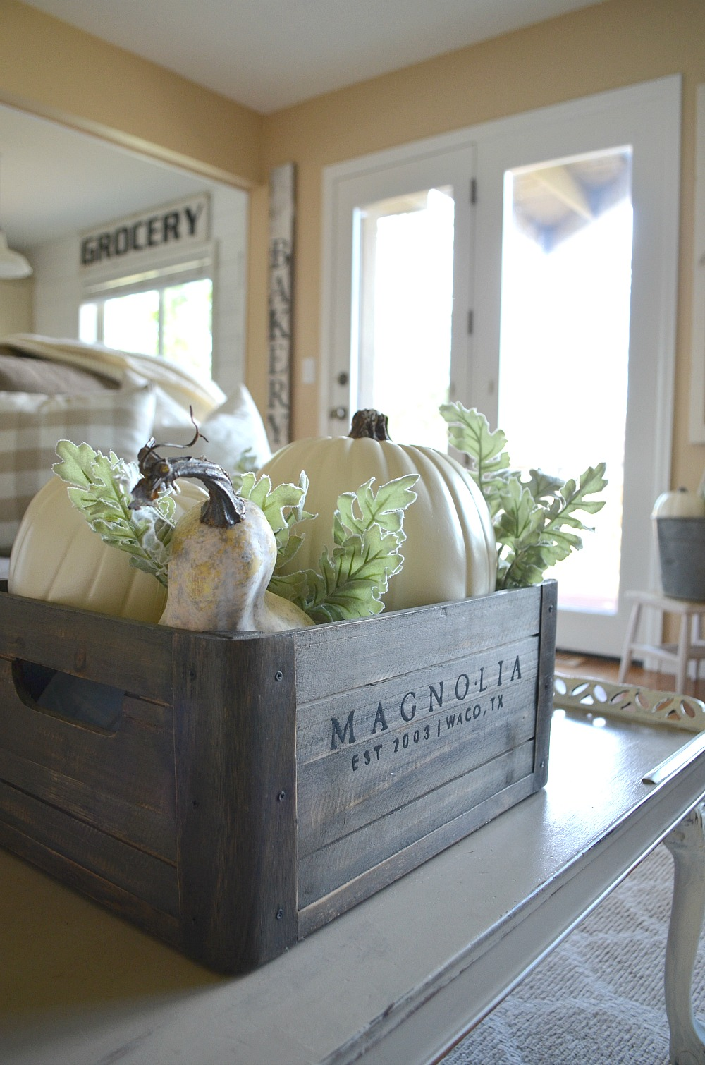 Cozy farmhouse fall living room tour little vintage nest - Decorate my living room online free ...