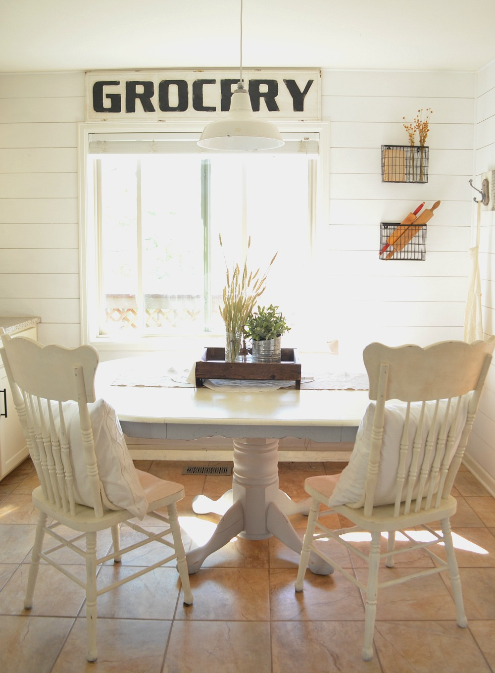 Farmhouse Kitchen Breakfast Nook Tour Little Vintage Nest