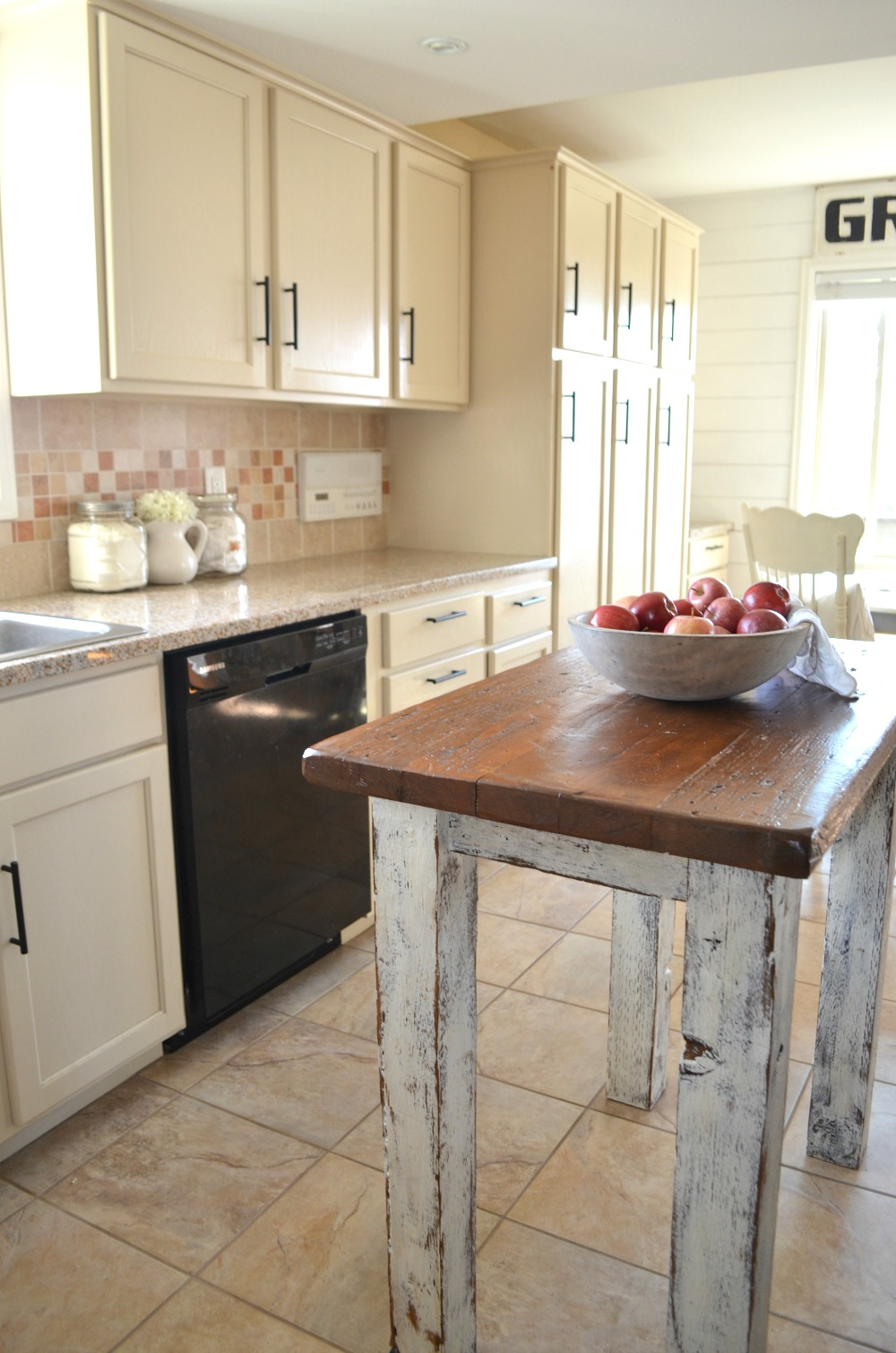 rustic kitchen island farmhouse kitchen amp breakfast nook tour vintage nest 14806