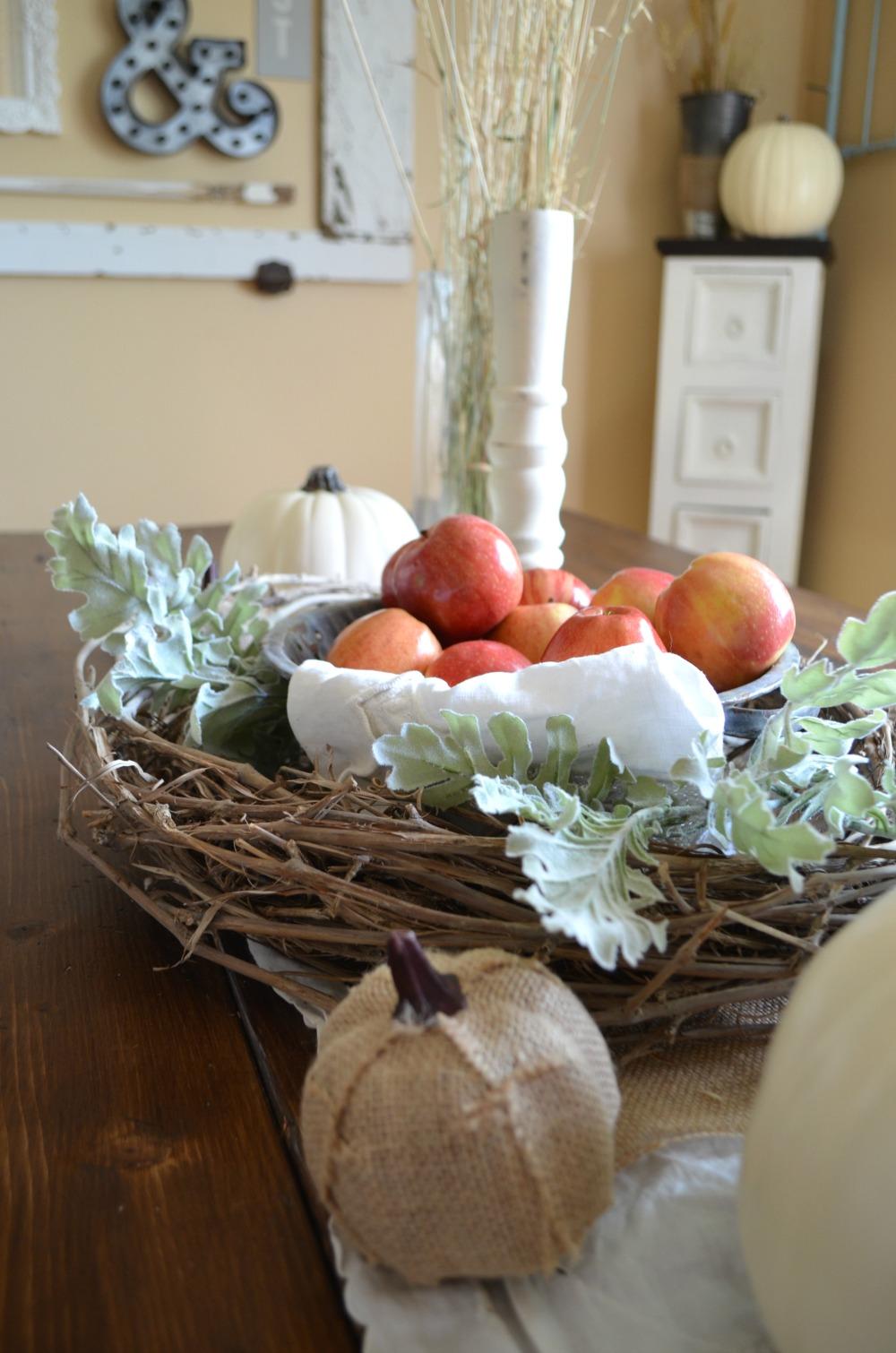 Simple Farmhouse Fall Centerpiece