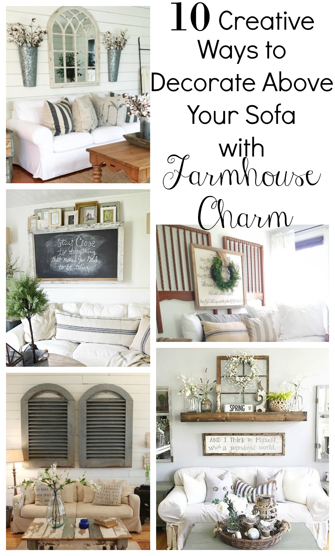 Creative Ways to Decorate the Sofa Little Vintage Nest