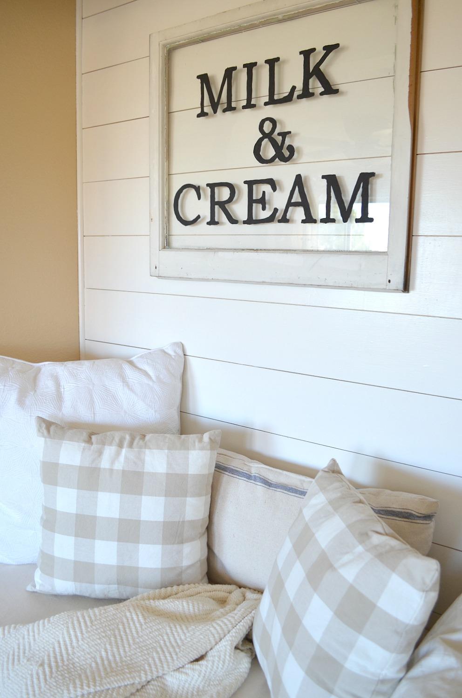 DIY Milk and Cream Sign