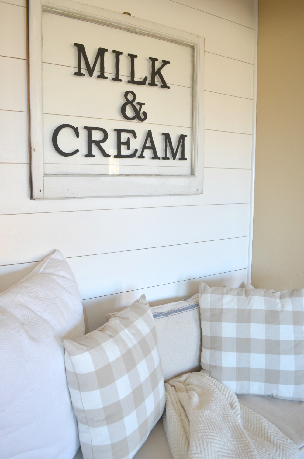 DIY Milk & Cream Sign