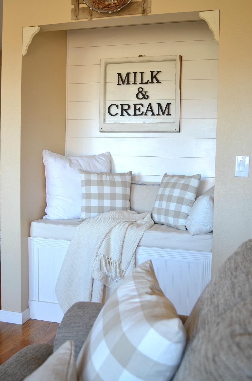 Cozy Farmhouse Reading Nook