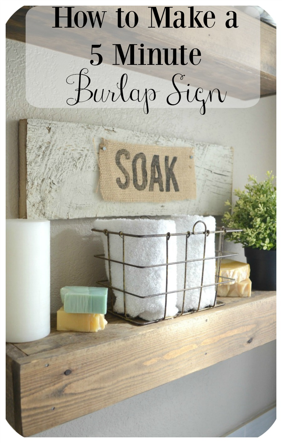 How to Make a 5-Minute Personalized Burlap Sign