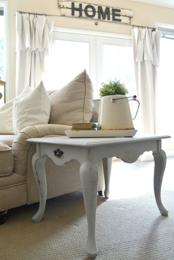 White Chalk Paint Coffee Table
