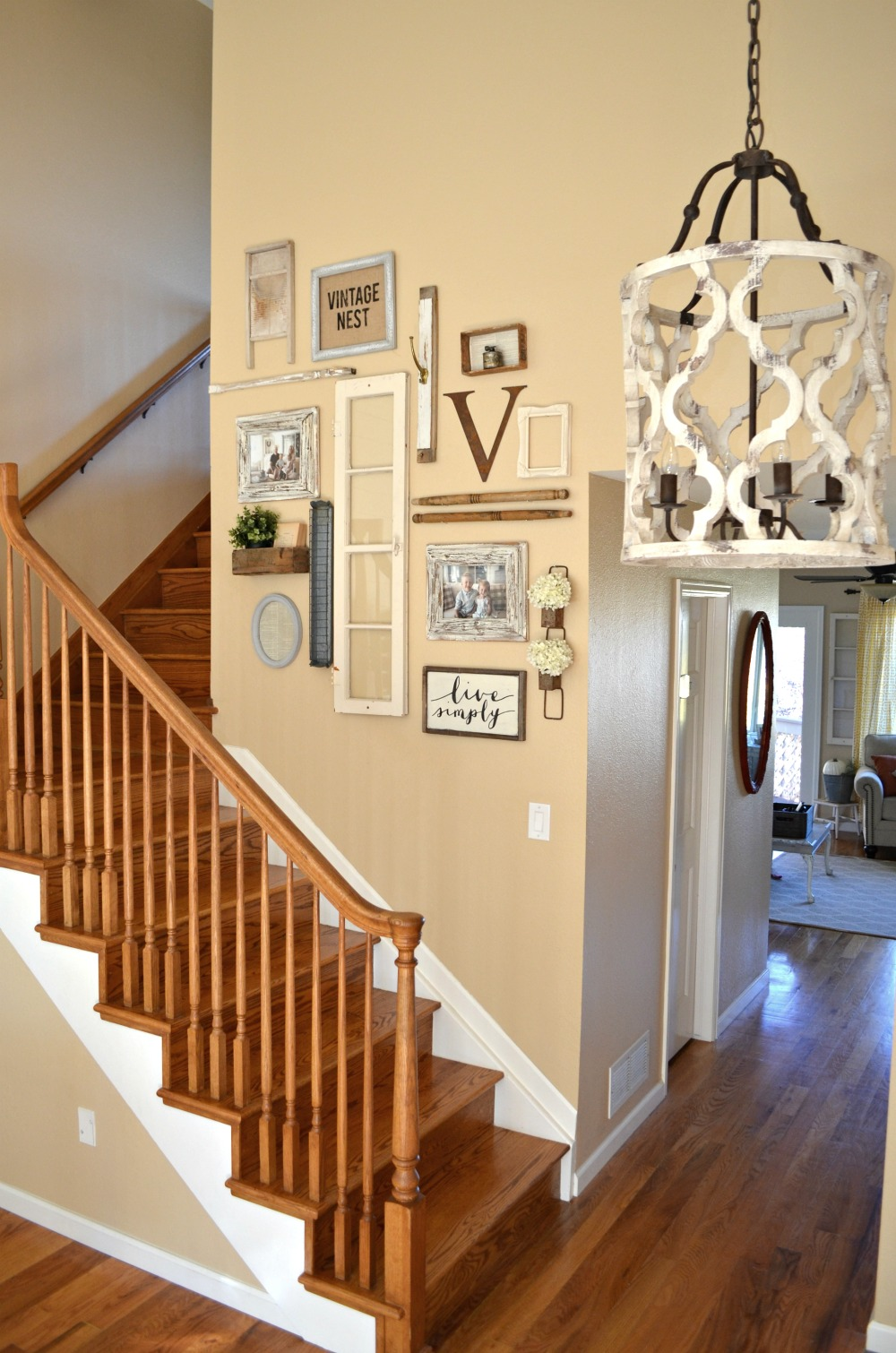 Staircase Gallery Wall & A Collection of Vintage Treasures