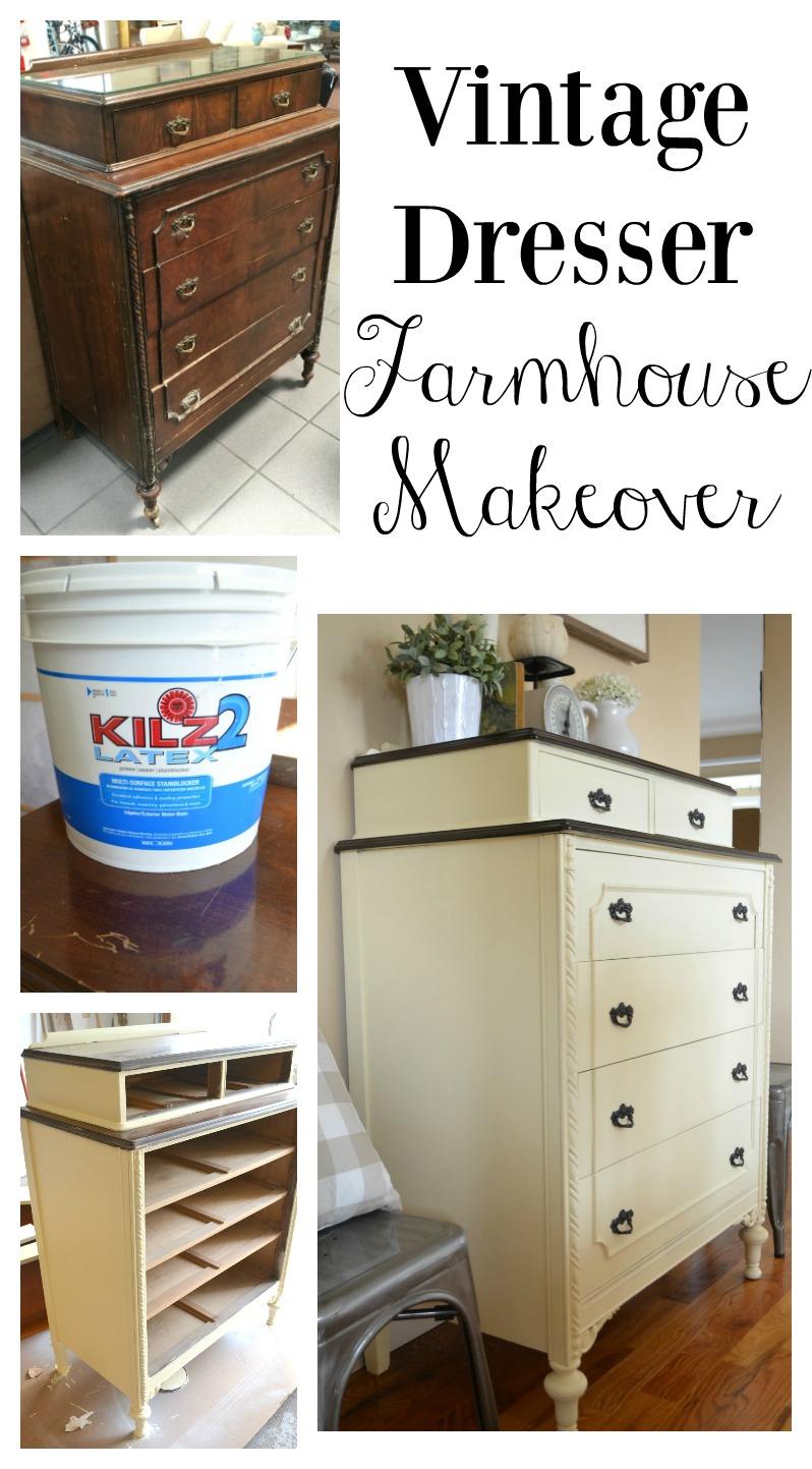 Vintage Dresser Farmhouse Makeover