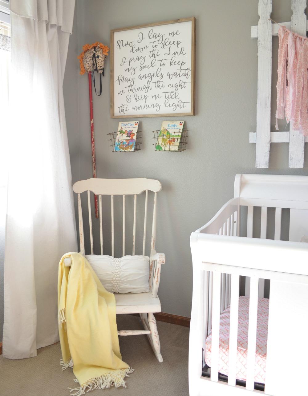Farmhouse Style Girl's Nursery