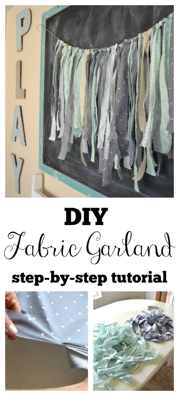 DIY Fabric Garland. Quick and easy step-by-step tutorial.