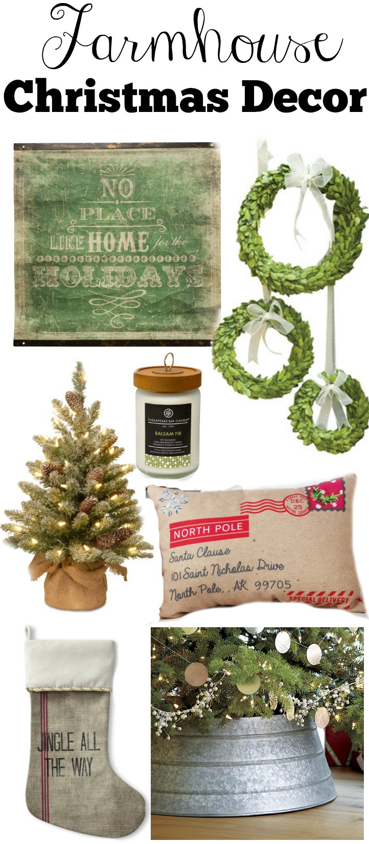 Farmhouse style christmas decor guide little vintage nest for Style christmas