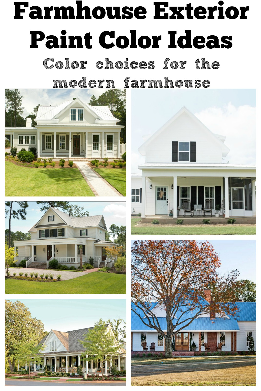 Exterior Color Choices Farmhouse Exterior Paint Color Ideas. Exterior Color Choices for the modern farmhouse.
