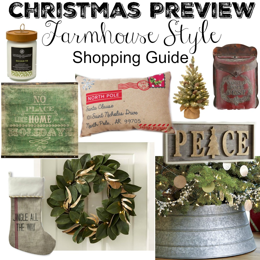 Farmhouse style christmas decor guide little vintage nest for Christmas home decor 2016