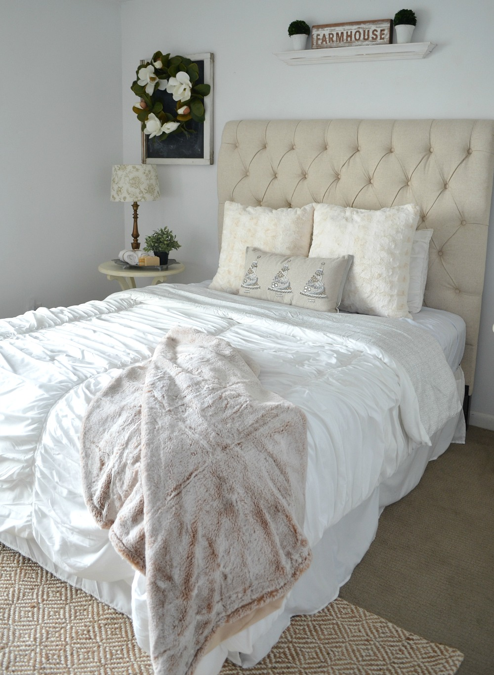 Cozy guest bedroom refresh for Farmhouse guest bedroom