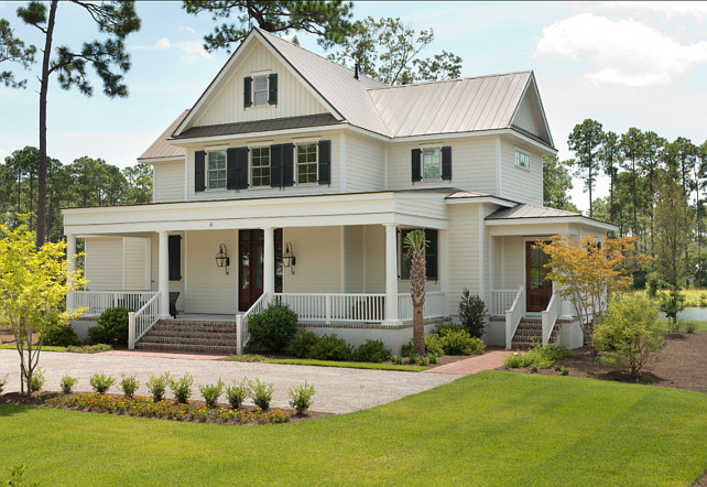 Farmhouse exterior paint color ideas for Traditional farmhouse plans