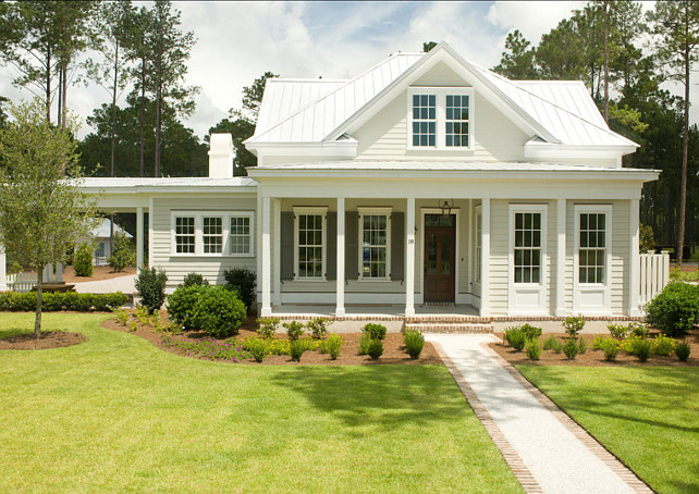 White Exterior Farmhouse Exterior Paint Color Ideas