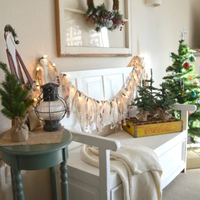 Easy Lighted Christmas Garland