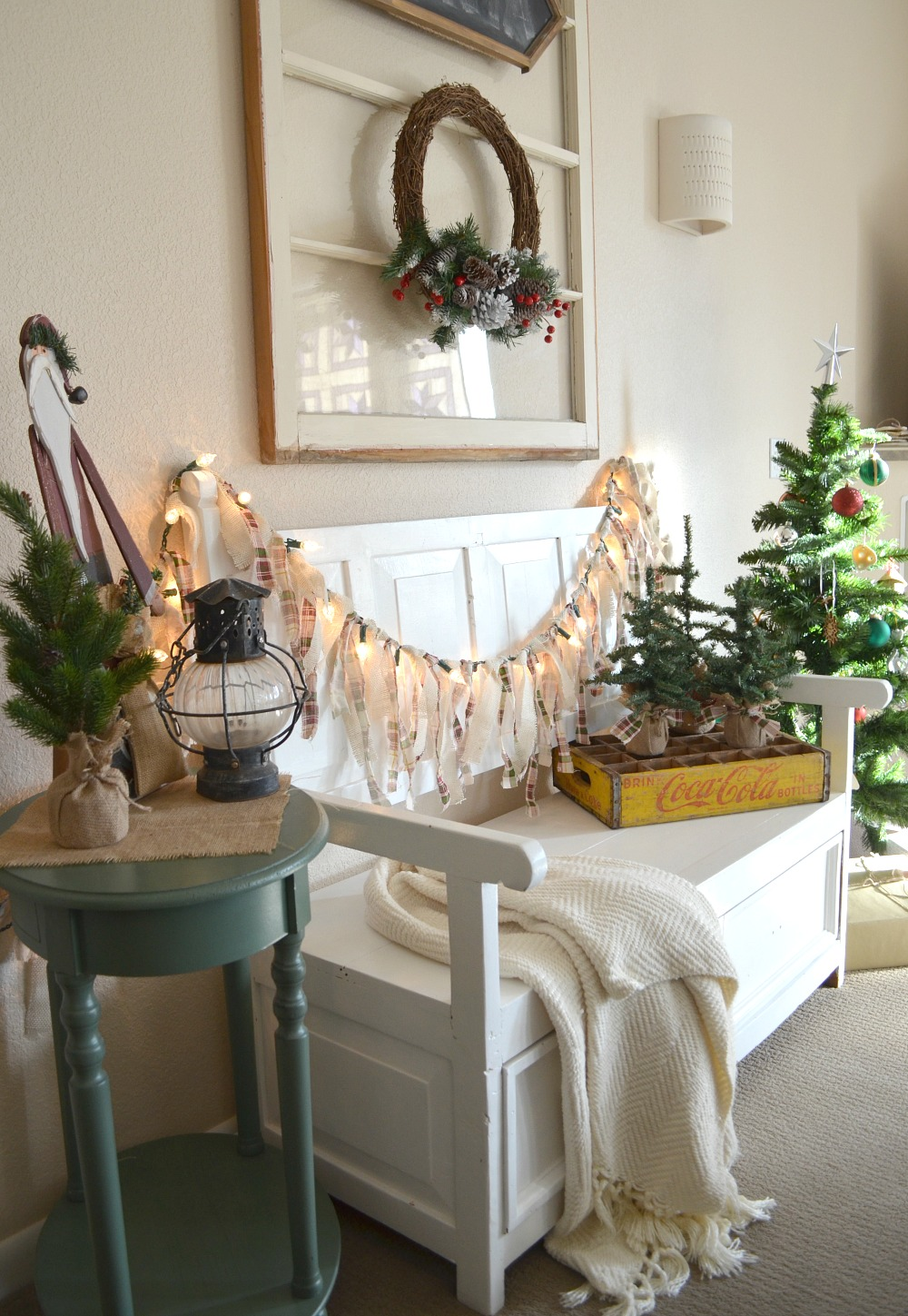 Burlap Christmas Tree Garland