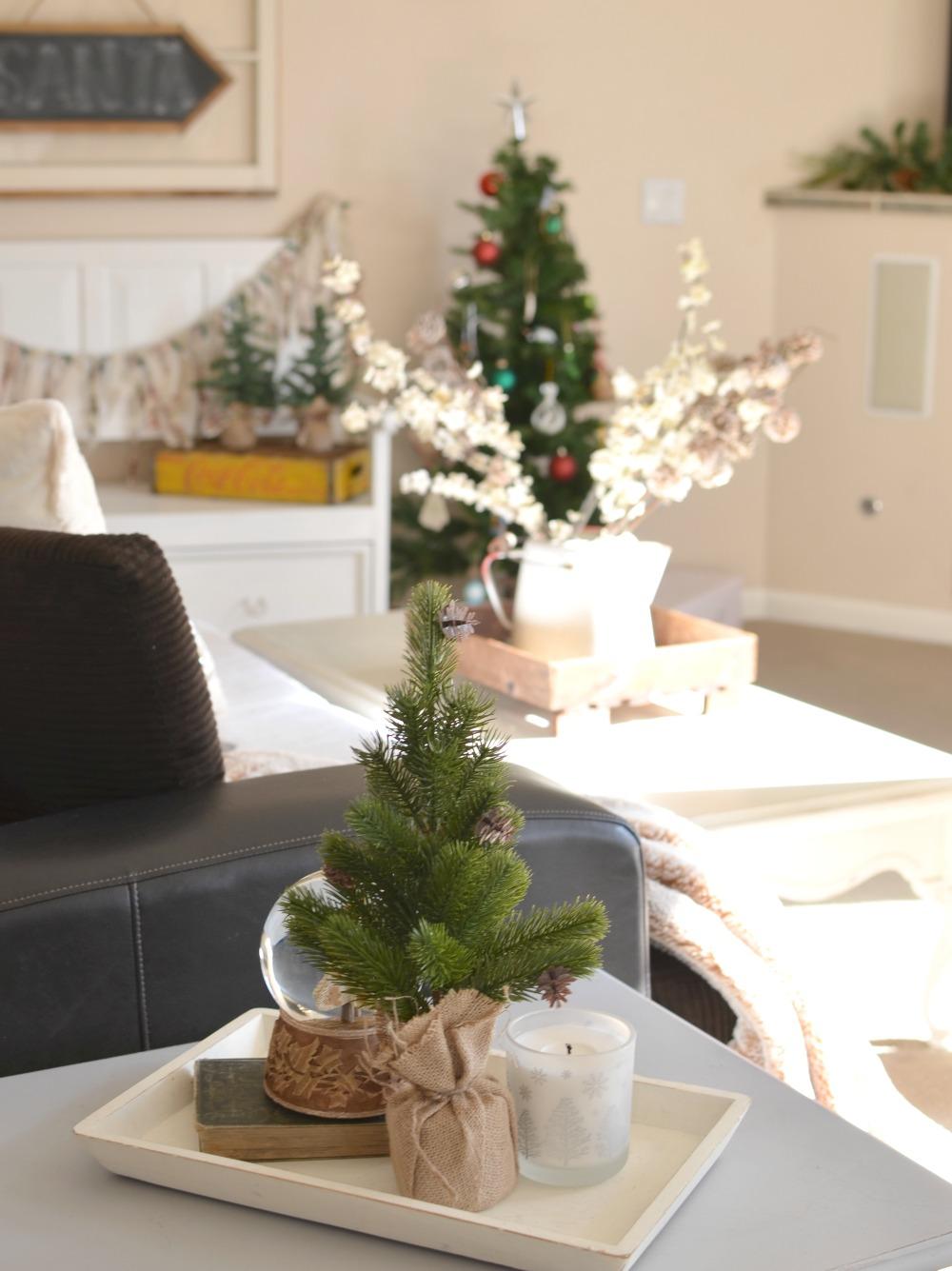 Farmhouse Christmas Basement Tour. Cozy farmhouse living room.