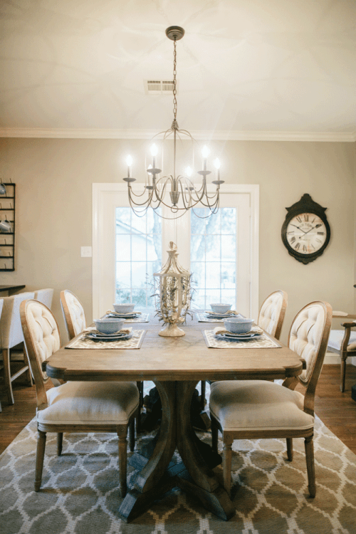 Favorite fixer upper dining rooms for Black n white dining rooms