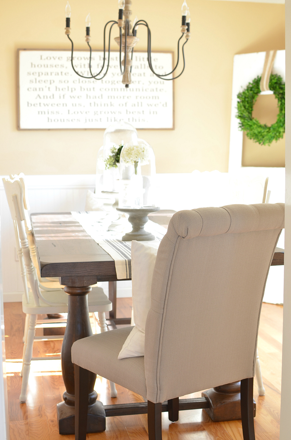 Modern farmhouse dining room makeover little vintage nest for Modern dining room ideas 2016