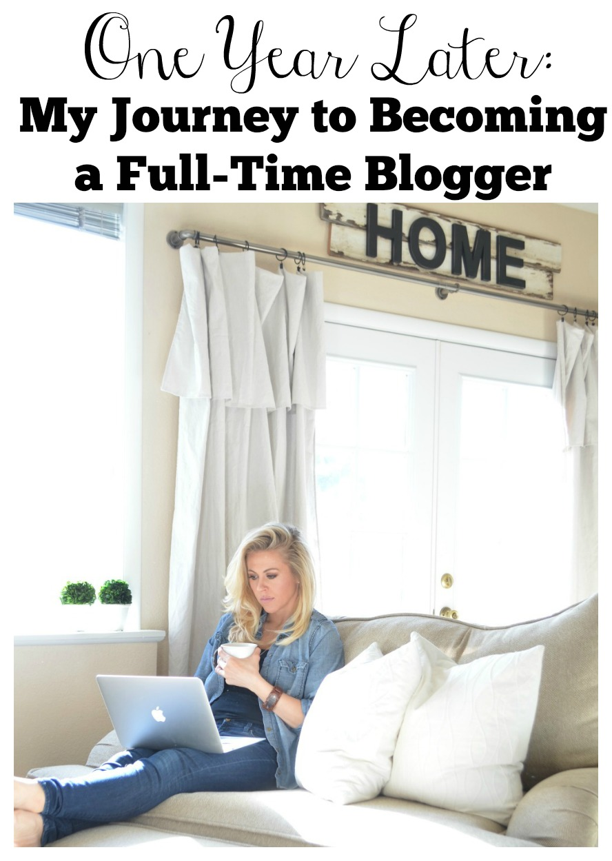 Reflections on my journey to becoming a full-time blogger. How I was able to leave my job and blog full-time in only 1 year.