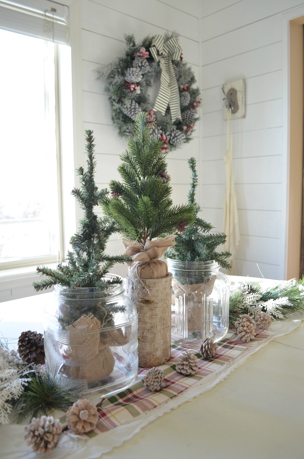 simple farmhouse christmas centerpiece a simple vintage inspired centerpiece perfect for the holiday season - Vintage Farmhouse Christmas Decor