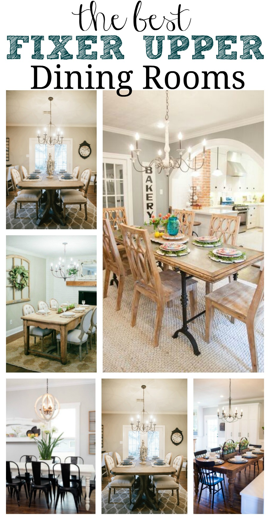 Favorite fixer upper dining rooms for Dining room inspiration