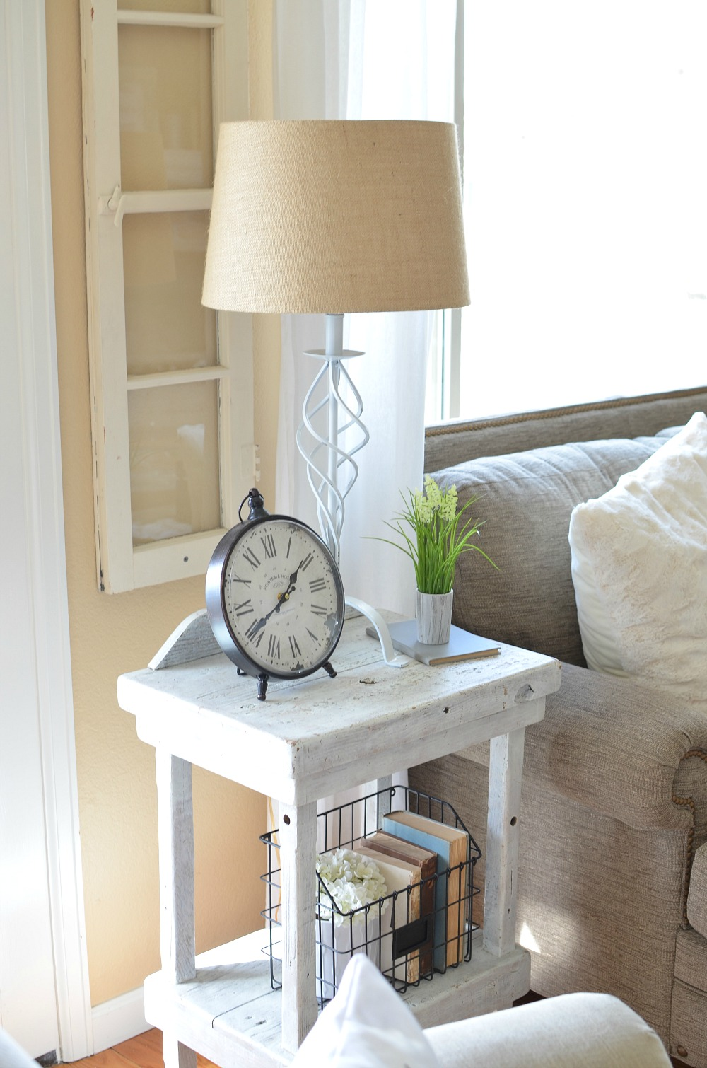 Refreshed modern farmhouse living room little vintage nest for I ve been seeing angels in my living room