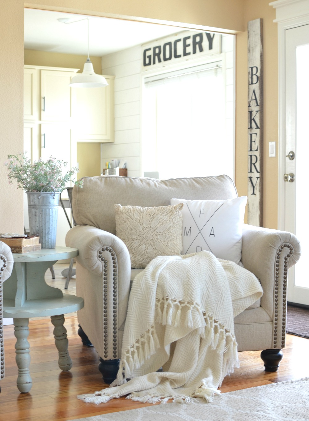 refreshed modern farmhouse living room - little vintage nest