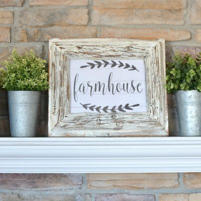 Simple Farmhouse Mantel + Free Printable