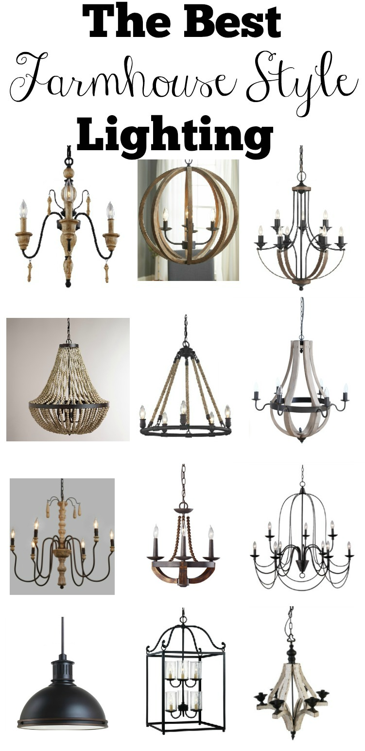 The Best Farmhouse Style Lighting Little Vintage Nest - Fixer upper kitchen light fixtures