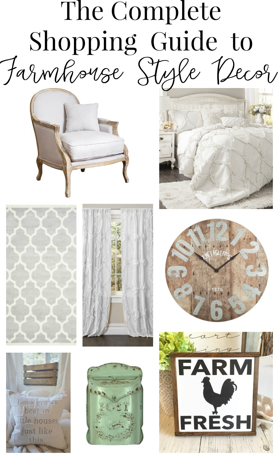 The Complete Shopping Guide to Affordable Farmhouse Style Decor