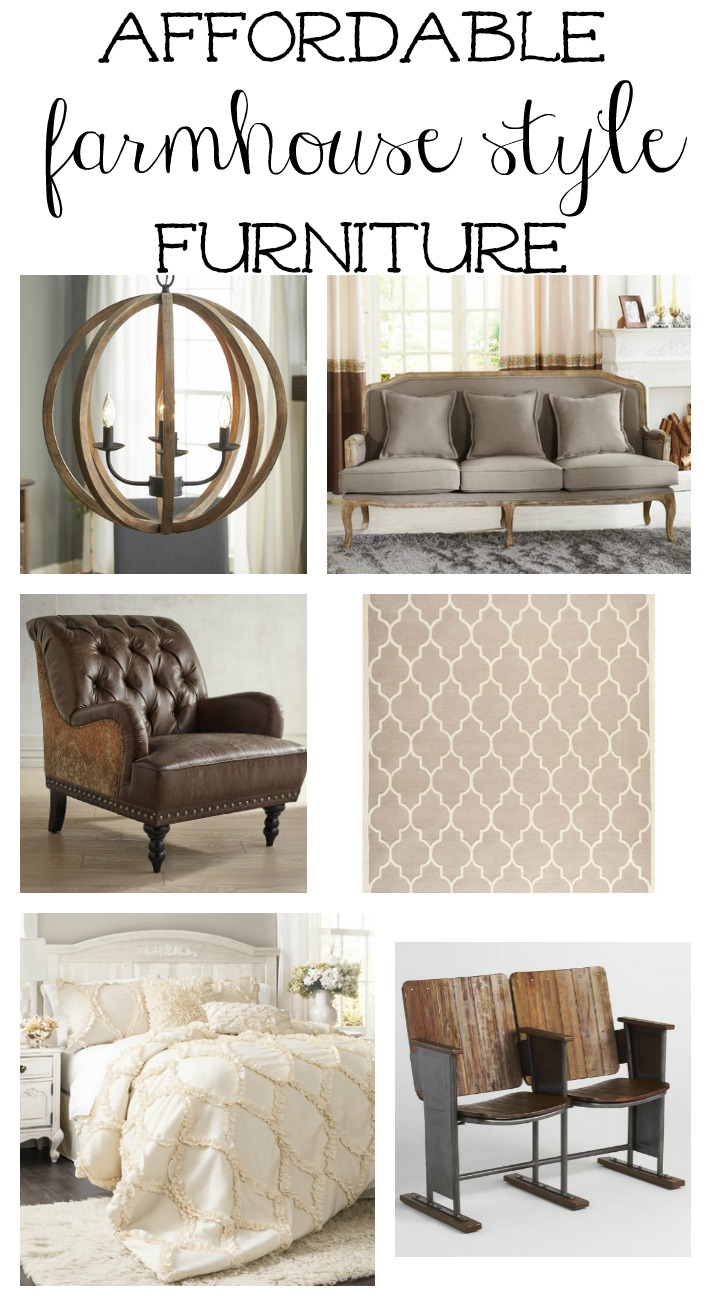 Affordable farmhouse style furniture and decor. The best farmhouse finds for your home!