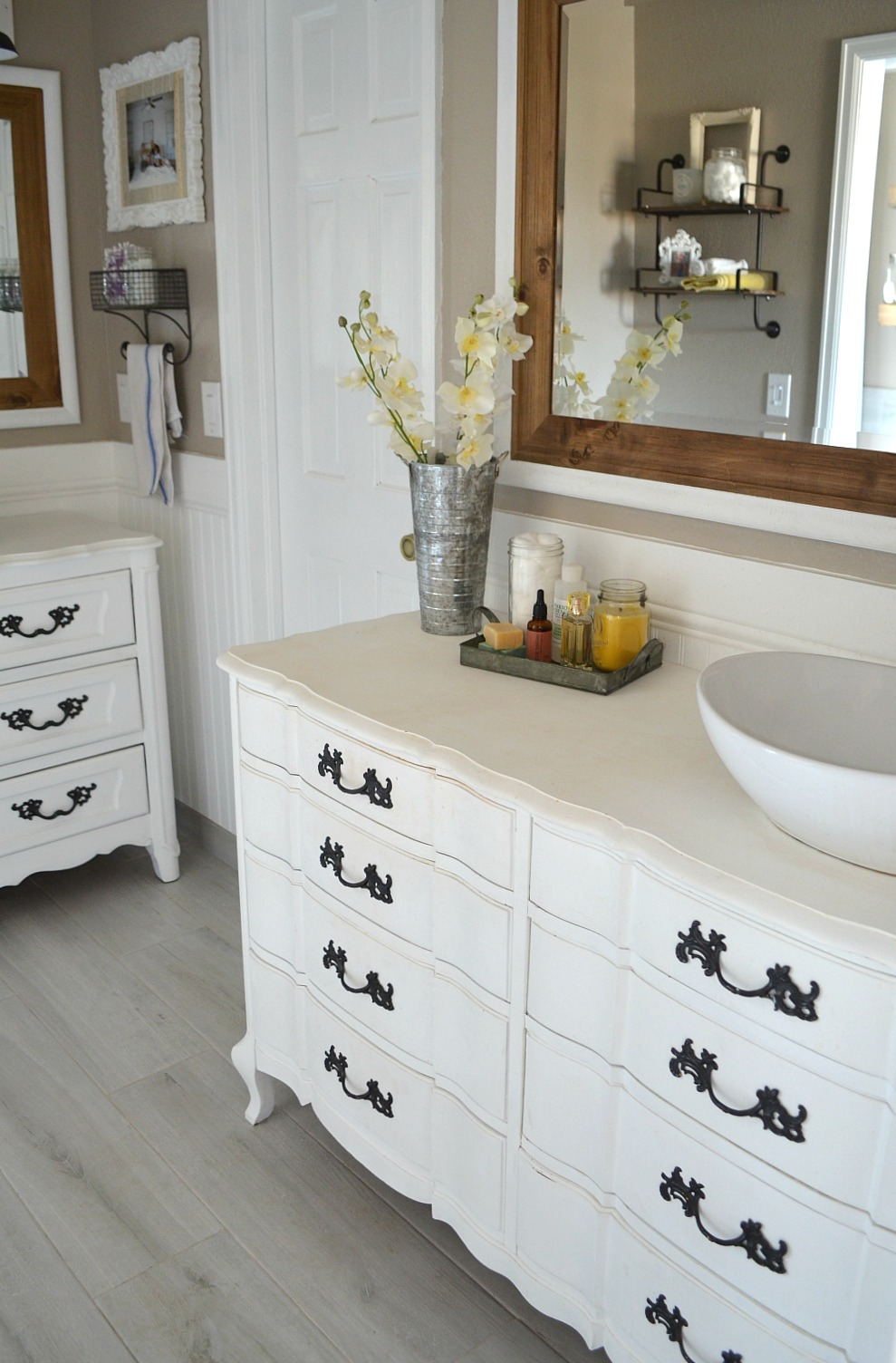 Review Of My Chalk Painted Bathroom Vanities