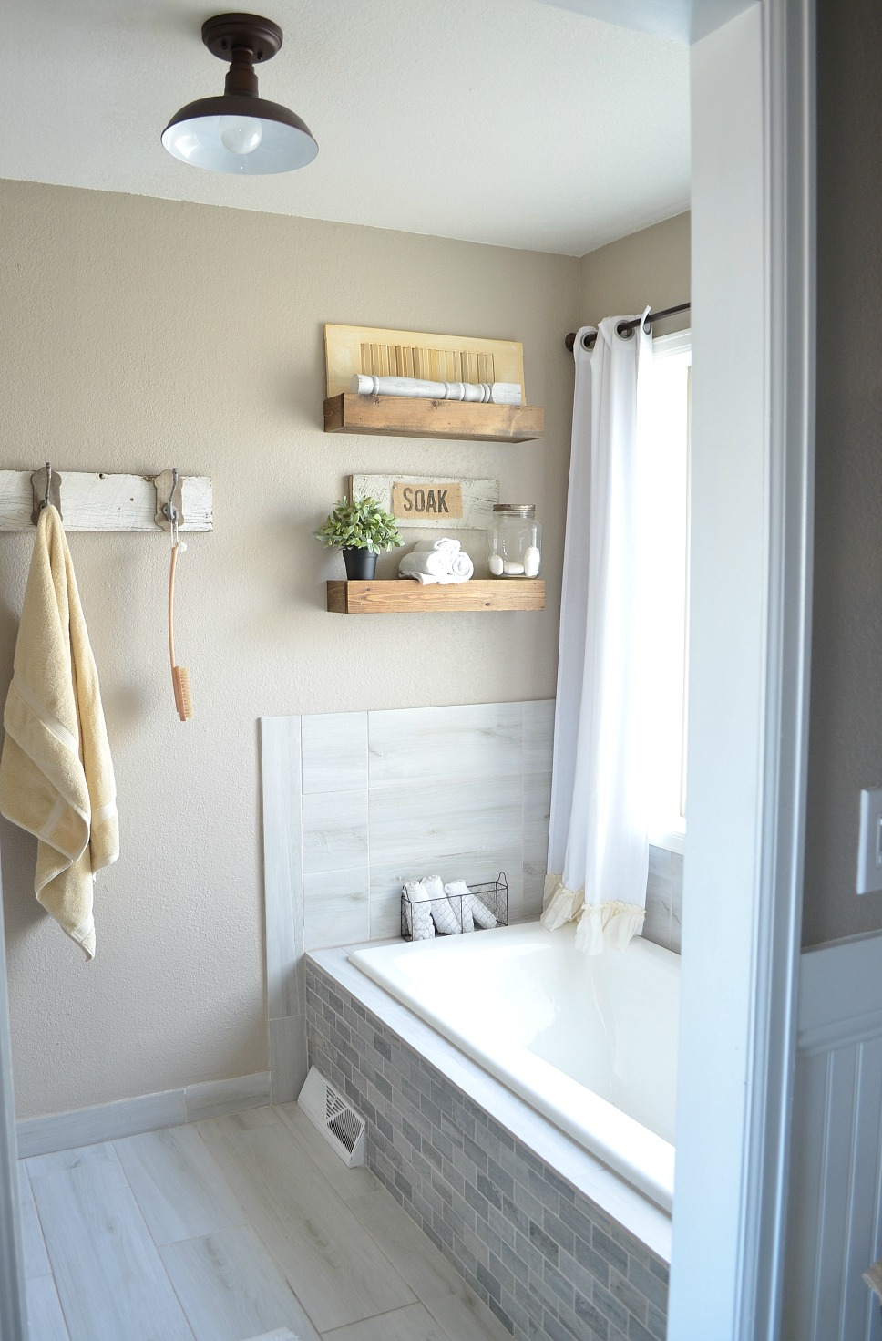 Honest Review of My Chalk Painted Bathroom Vanities on Modern Farmhouse Shower  id=37518