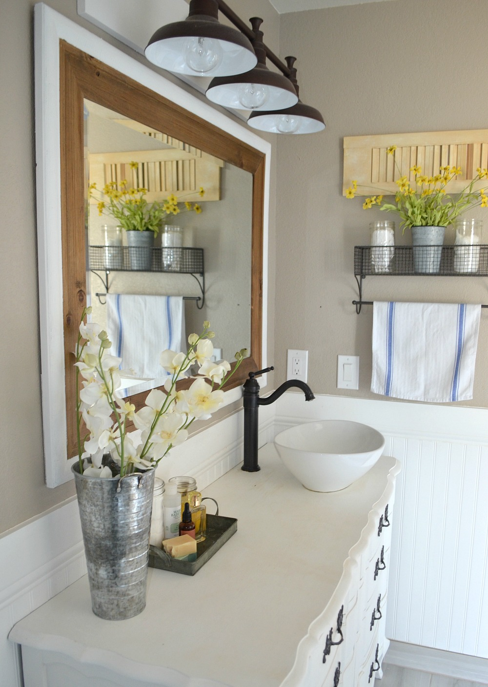 Honest review of my chalk painted bathroom vanities for Modern chic bathroom designs