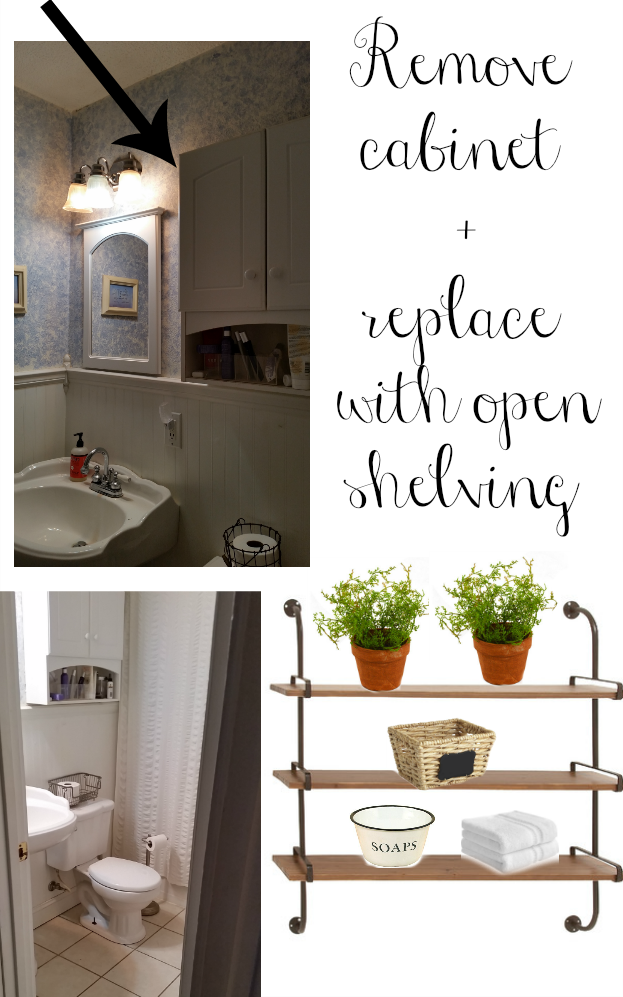 Modern farmhouse small bathroom design. Great ideas to decorate any small bathroom!