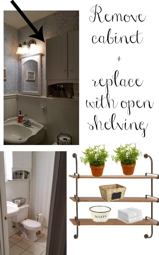 Modern farmhouse small bathroom design. Great ideas to decorate any small bathroom!