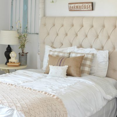 Vintage Crib Frames in Cozy Guest Bedroom