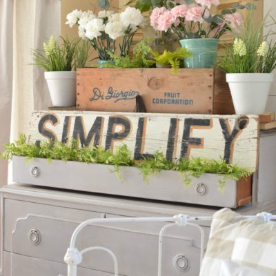 Vintage Dresser and a Pretty Spring Vignette
