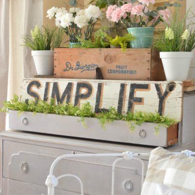 Vintage Dresser and a Pretty Spring Vignette