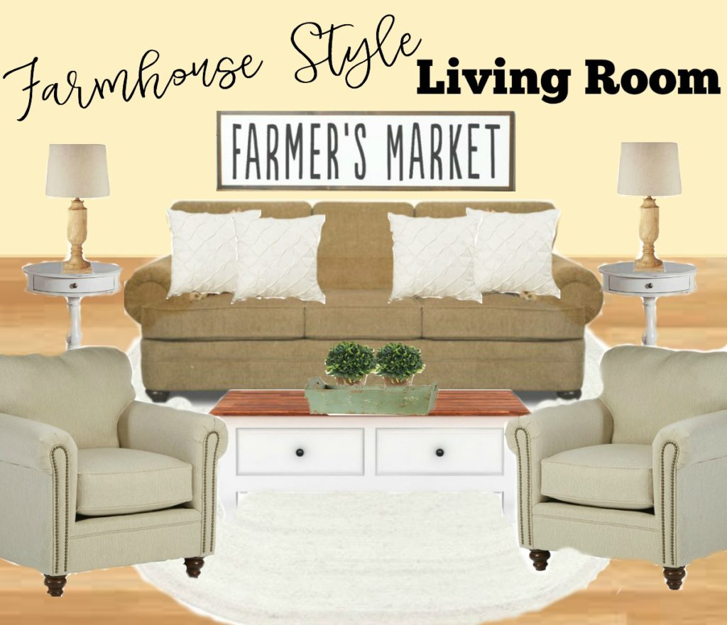 Farmhouse Style Living Room Design. Farmhouse Rehab: See how this outdated living room is giving a complete farmhouse style refresh for spring!