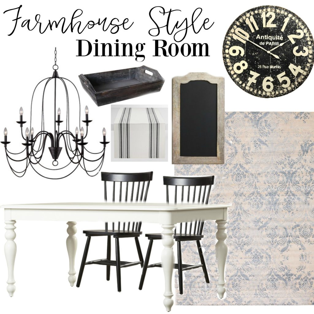 Farmhouse Style Dining Room Design.