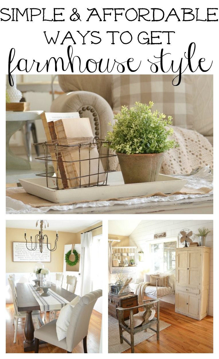 How to get farmhouse style in your home for Places to get cheap home decor