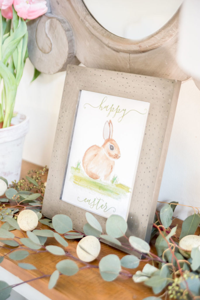 Farmhouse style Easter decor ideas.