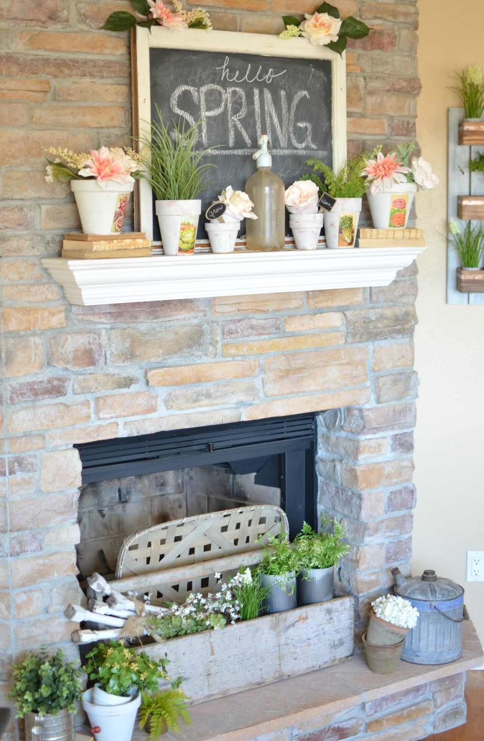 fireplace decorating ideas vintage farmhouse mantel vintage nest 12039
