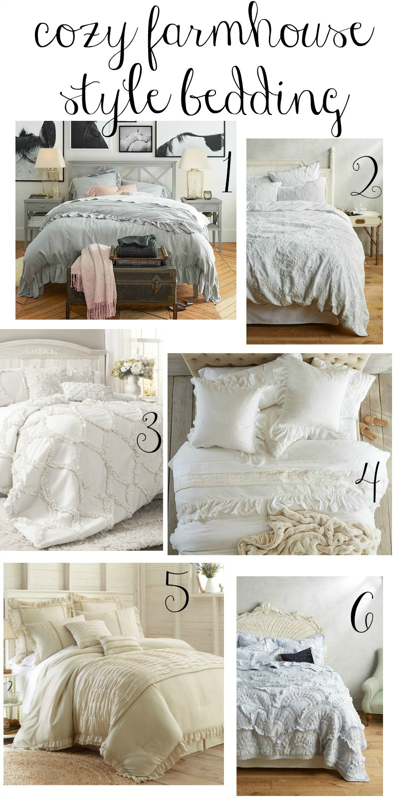 Cozy farmhouse style bedding for Farmhouse style bed